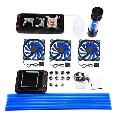 PC Water Cooling Complete Kit CPU Block Pump 240mm Radiator Reservoir HeatSink🔥