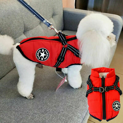 Pet Dog Warm Padded Vest Waterproof Coat Clothes Puppy Winter Jacket Apparel NEW