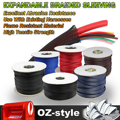 Expandable Nylon Braided Cable Sleeving Sleeve Wire Protect Management 3 Weave