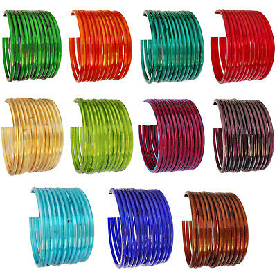 Indian Plain Bangles Bollywood Traditional Costume Wear Glass 12 Bangles Set