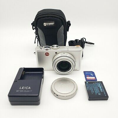 Leica D-LUX 3 10.0MP Digital Camera Silver Gray w/ Travel Case 16GB Memory Card