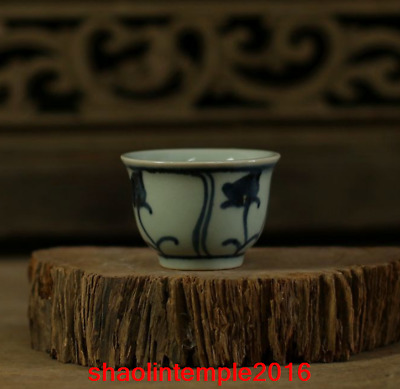 China Ancient porcelain Blue and white Kungfu  Teacup
