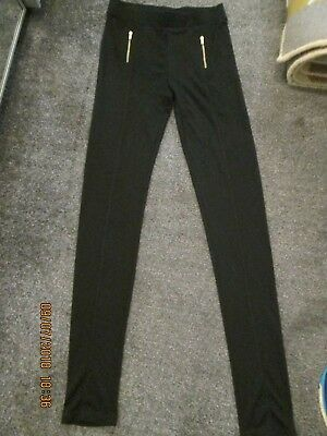 H&M- Black, Zip Detail,Open Cuffs Joggers, Size - size 14 years