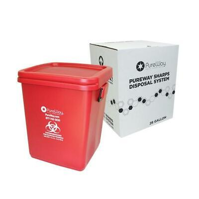PureWay Sharps Collection Bin & Healthcare Waste Disposal, prepaid return