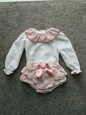 24-36MONTHS NEW SPANISH BABY GIRLS  FLORAL JAM PANTS CARDIGAN BLOUSE 3-6-12-18