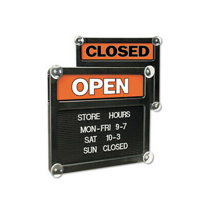 Headline Signs Double-Sided Open/Closed Sign w/Plastic Push Characters - USS3727