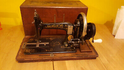 Antique  Naumann Vintage sewing Machine, in working order