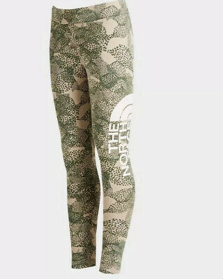 the north face all over print girls legging / trouser size XL
