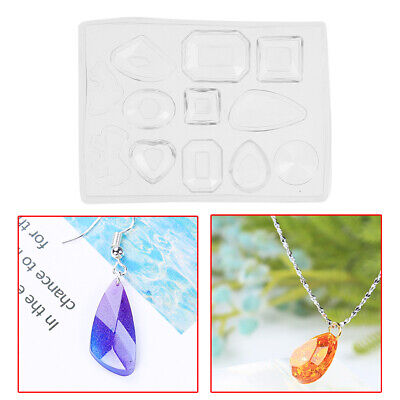Silicone Mold DIY Resin Pendant Craft Tool Jewelry Earrings Necklace Making SS