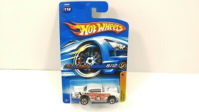 Hot Wheels Track Aces /'57 Chevy #118 White