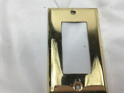 Antique Brass Toggle Wall  SINGLE GANG Cover Plate
