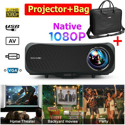 LED 4K Video Projector Home Cinema ZOOM Native 1080P 10000:1 200'' Screen HDMI