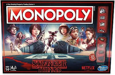 Monopoly: Stranger Things Edition Netflix 80s Board Game Hasbro 7EJ3zr1