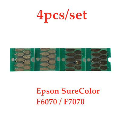 4pcs/set One-time Chips for Epson Sure Color F6070 / F7070 Ink Cartridge