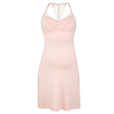 Maternity and Nursing Serenity Nightdress - Pale Pink