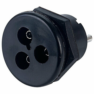 250V 3A Power Connector Bulgin 3-Pin Shrouded Pin Mains Panel Plug or Socket