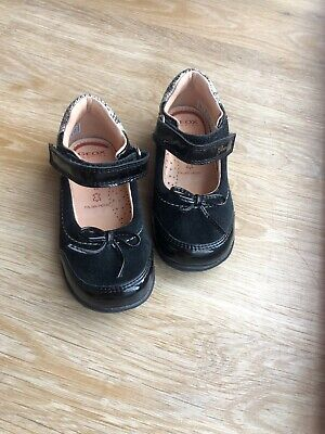 Leather Geox Baby Black Sandals Girls Toddler Shoes Size UK 5 (eur 22)