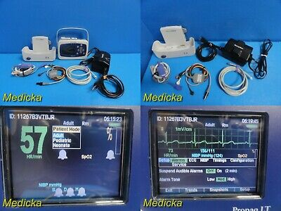 Welch Allyn Propaq LT Handheld Monitor W/Patient Leads,Adapter,NEW BATTERY~20257