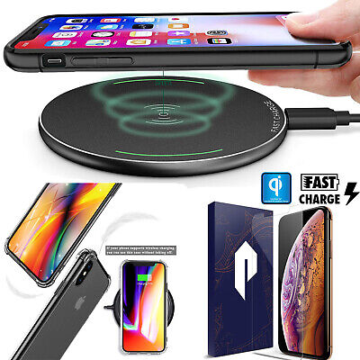 For iPhone 11 Pro Max Qi Wireless Fast Charging Dock Charger Mat Pad Plate IOS13