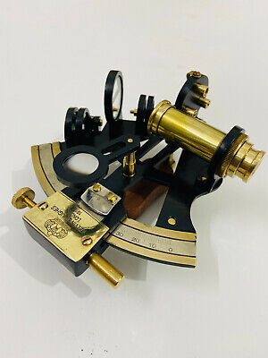 """Nautical Solid Brass Hand-Made 5"""" Sextant 