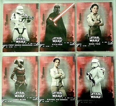 Star Wars : The Rise Of Skywalker Red (Parallel) Cards # 1-99 - Pick