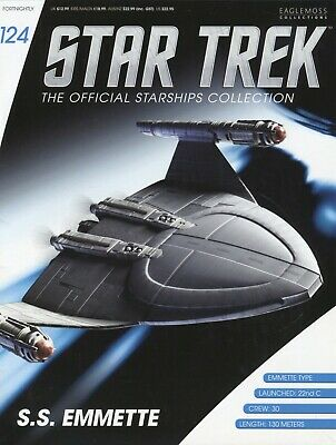 Star Trek Official Starship Collection - Issue 124 -  SS Emmette - Brand New