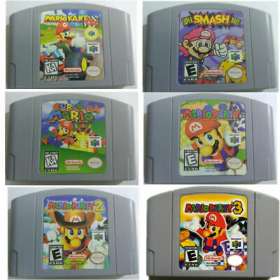 Mario Kart 64, Video Game Cartridge for Nintendo N64 Console, Party 123 Classic