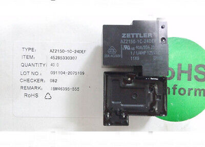 Zettler AZ2150 40A Heavy Duty Relay 250 VAC SPDT Contacts 18 V Coil