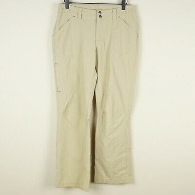 Patagonia Outdoor Hiking Zip Cargo Pocket Roll Up Brown Pants Womens Sz 8