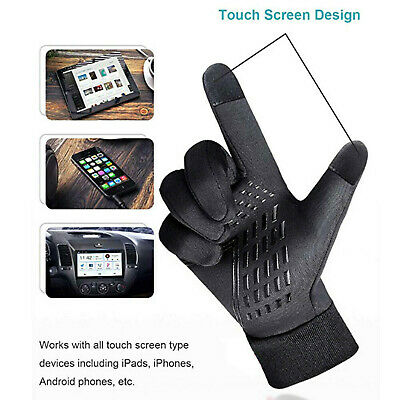 Winter Touchscreen Gloves Thermal Windproof Warm Men Women for Cycling Driving