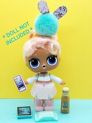 LOL Surprise Doll LPS Accessories 4 PC Lot Starbucks Mug Phone Tablet Treat