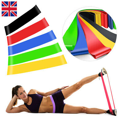 5 Elastic Resistance Loop Bands GYM Yoga Exercise Fitness Workout Stretch Physio