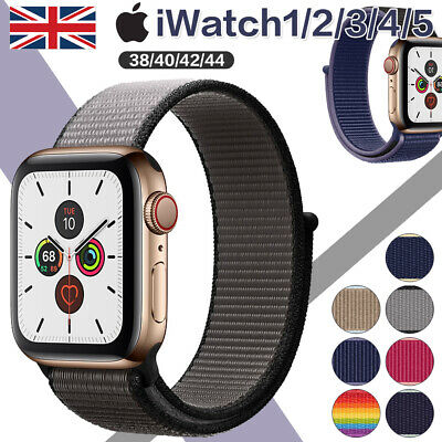 Nylon Sport Loop Band Strap for Apple Watch iWatch Series 5/4/3/21 38 40 42 44mm