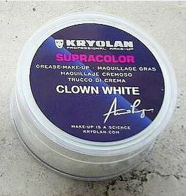KRYOLAN SUPRACOLOR BIANCO CLOWN 150 ml 250 gr trucco professionale teatrale