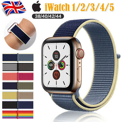 For Apple Watch Nylon Woven Sport Loop Band Strap iWatch Series 5/4/3/2 38-44mm