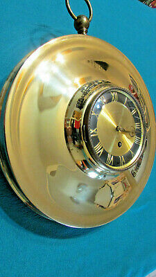 Jewel Wall Clock Gold Circle 8 day with key made in Germany
