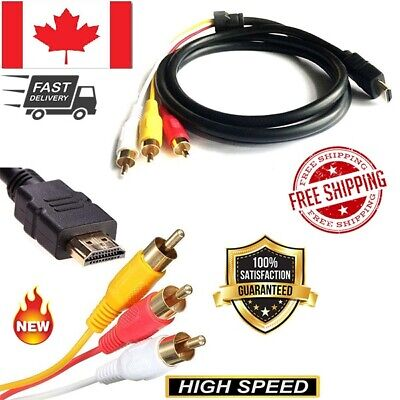 HDMI Male to 3 RCA Composite AV Audio Video Adapter Converter cable for HDTV PS3