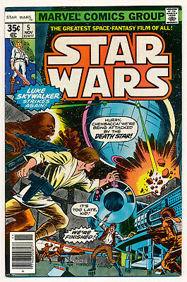 Marvel Star Wars Issue #5 News Stand Edition Comic Book 9.0 VF/NM 1977
