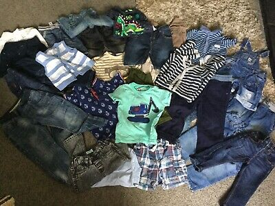 Huge Bundle Of Baby Boy Clothes Birth 3 Years Jeans T Shirts Shorts Ect  29 Item