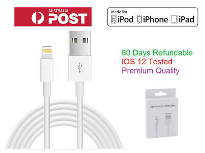 3x Lightning Data Charger Cable Cord Compatible Apple iPhone 5-8 X XS Plus iPad
