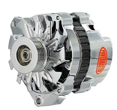 Powermaster CS130 Style 140A 1-Wire Alternator POLISHED Chev PM678021