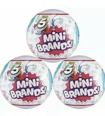 3 Ball Pack Lot - NEW & UNOPENED 5 Surprise Mini Brands Toy Blind Balls by Zuru