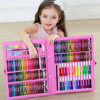168Pcs Art Set Childrens/Kids Colouring Drawing Painting Arts & Crafts Case