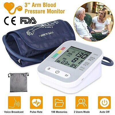 Auto LCD Digital Upper Arm Blood Pressure Monitor Machine Health Test Device US