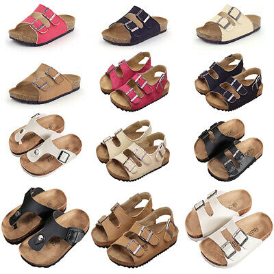 Kids Boys Girls Sandals Cork Shoes Children Slippers Beach Casual Summer Shoes