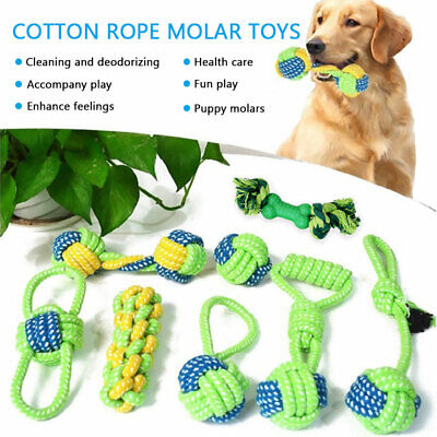 Durable Dog Chew Knot Toys Teddy Pet Puppy Teeth Bear Braided Tough Strong Rope