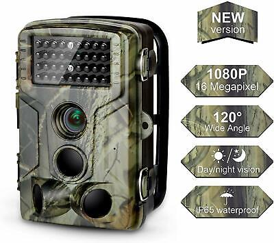 Trail Camera 16MP 1080P FHD Waterproof, Wildlife Hunting Scouting Game Camera