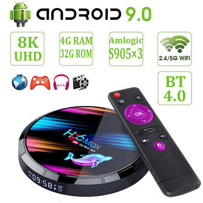 H96 MAX X3 8K UHD 4+32G Android 9.0 OS TV BOX 2.4/5G WIFI BT USB3.0 3D Quad Core