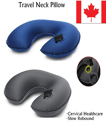 Travel Pillow Inflatable U shaped Neck Support Head Rest Airplane Soft Cushion
