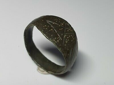 Medieval -Holy Land Bronze Ring 10th, 12th Century AD
